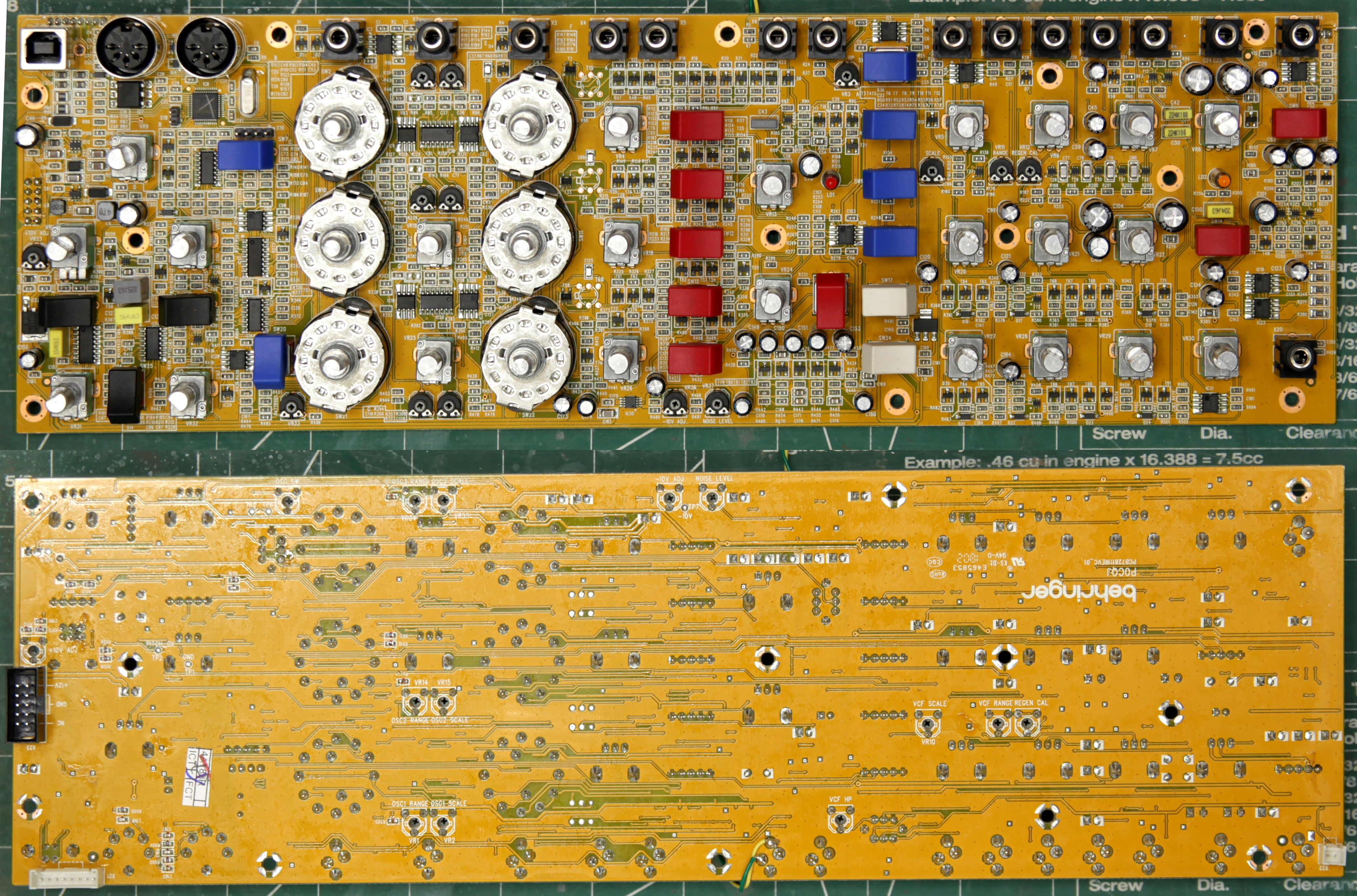 Behringer Model D Circuit Board High Res Synthesizers Electronic Repair Field Service
