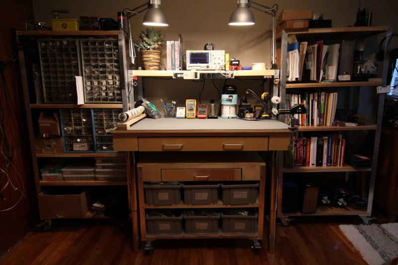 Diy Bedroom Workbench And Shelves Mike Beauchamp